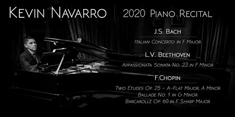 KEVIN NAVARRO, PIANO - The Beethoven 2020 Project tickets