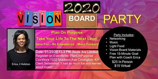 2020 Vision Board Party: Plan On Purpose