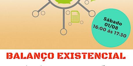 """Palestra Gratuita: """"Balanço Existencial."""" ingressos"""