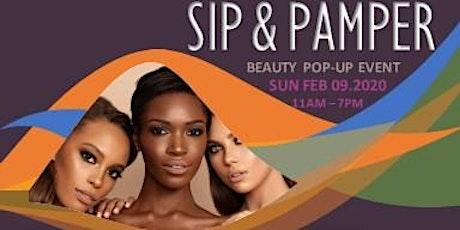 SIP & PAMPER Beauty Pop Up tickets