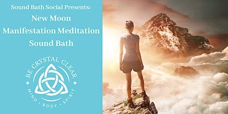 Sound Bath Social Presents: New Moon Manifestation Meditation Sound Bath tickets