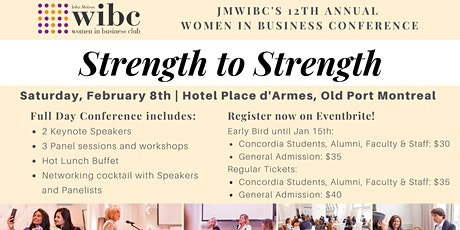 Strength to Strength: JMWIBC's 12th Annual Women in Business Conference tickets