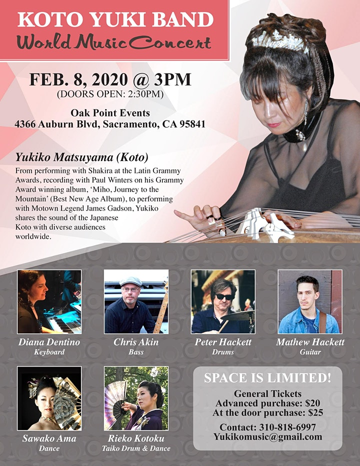 World Music featuring Yukiko Matsuyama & Koto Yuki Band with Special Guests image