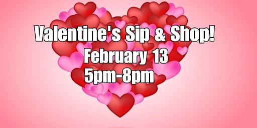 Valentine's Sip & Shop!