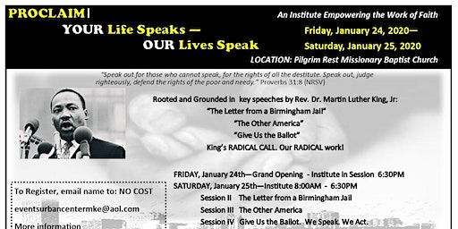 An institute empowering the Radical Martin Luther King Legacy