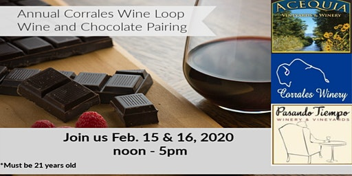 Annual Corrales Wine Loop - Wine & Chocolate Pairing Event