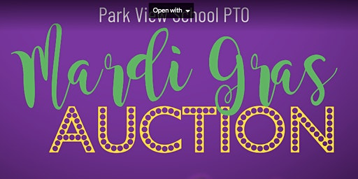 Park View PTO Mardi Gras Auction