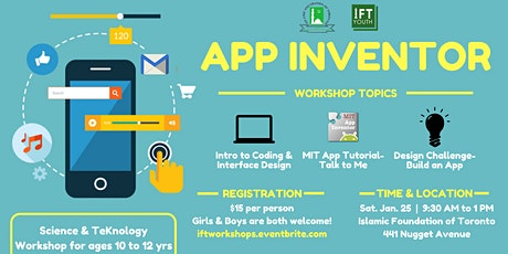 App Inventor (ages 10 to 12) tickets