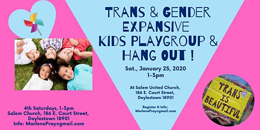 Trans & Gender Expansive Kids Play and Hang Out Group!  Ages 3-13