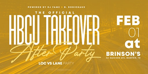HBCU Takeover After Party: LOC vs LANE