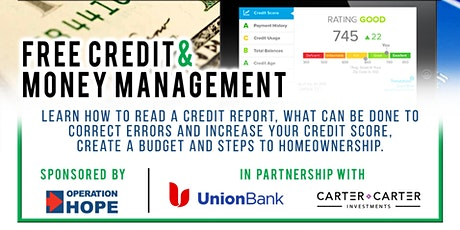 Free Credit & Money Management VIRTUAL Workshop tickets