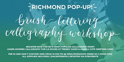 RICHMOND Brush Lettering CALLIGRAPHY Art Workshops