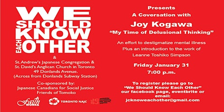 We Should Know Each Other Presents Joy Kogawa tickets