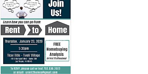 Rent to Home Workshop 2020
