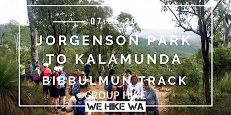 Jorgenson Park To Kalamunda (Bibbulmun Track) tickets