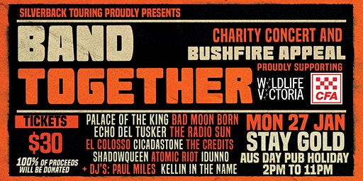 BAND TOGETHER - Melbourne. Charity concert & bushfire appeal.