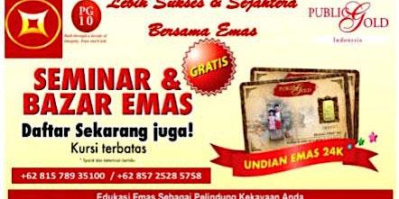 Seminar Edukasi & Bazar Emas Jogja