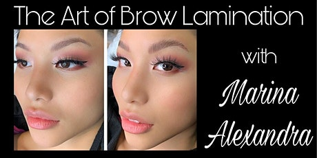 Brow Lamination Certification with Full Kit workshop course class training tickets