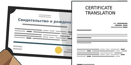 CERTIFICATE TRANSLATION SERVICES tickets
