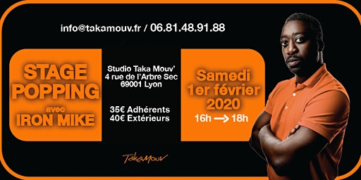 Stage Popping avec Iron Mike au Studio Takamouv
