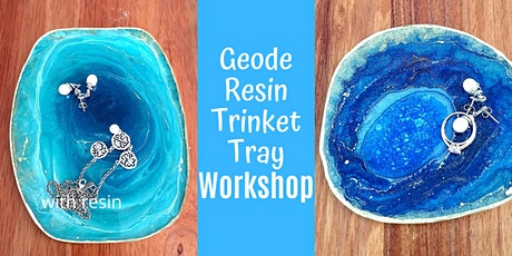 Resin Geode Trinket Tray Workshop tickets