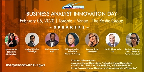 Business Analyst Innovation Day|Toronto|06 Feb 2020 tickets