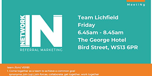 NetworkIN Team Lichfield Fortnightly Meeting