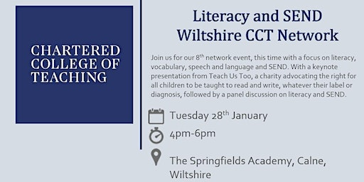 Chartered College of Teaching Wiltshire SEND Network Event