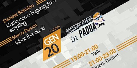 Kotlin come linguaggio di scripting / What the duck!  - Programmers in Padua biglietti