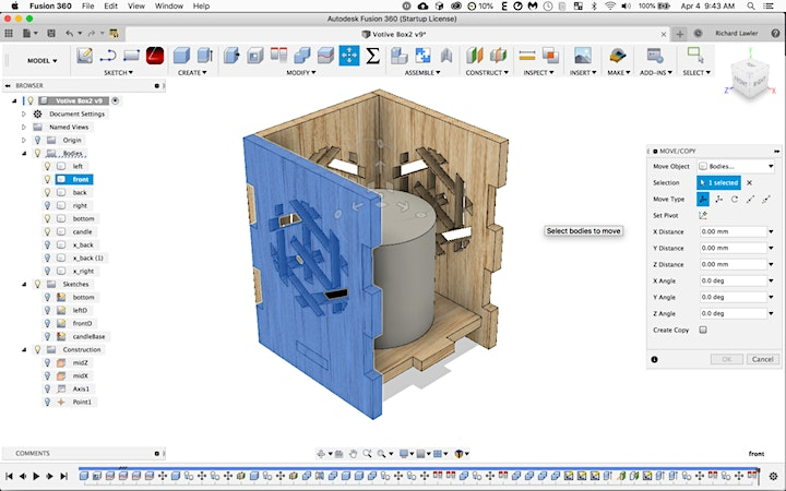 ONLINE: Introduction to Fusion 360 for Makers image
