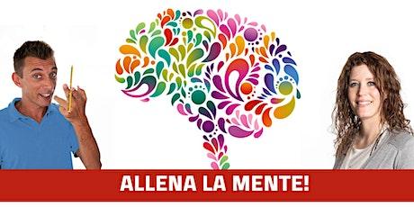 """""""Allena la mente"""" Asolo lunedì 27 Gennaio ore 21.00 La Fornace biglietti"""