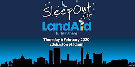 SleepOut for LandAid - Birmingham, Edgbaston Cricket Ground tickets