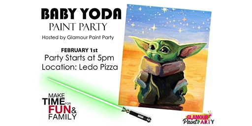 Baby Yoda Paint Party Hosted By Glamour Paint Part