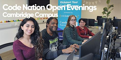 Code Nation Open Evening - Cambridge