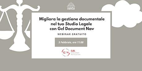 Migliora la gestione documentale nel tuo Studio Legale con Gel Document Nav biglietti