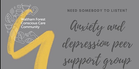 Anxiety and depression peer support group tickets