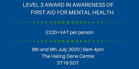 FAA Level 3 Award in Supervising First Aid Mental Health tickets