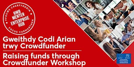 Codi Arian trwy Crowdfunder  |  Raising funds through Crowdfunder tickets