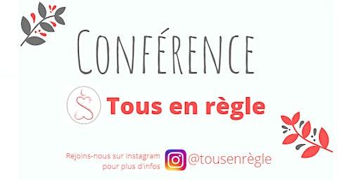 Conférence Tous en règle de 18h à 19h30