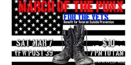 March of the pUnX for the Vets tickets