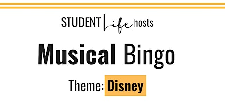 Rock and Roll Bingo: Disney tickets