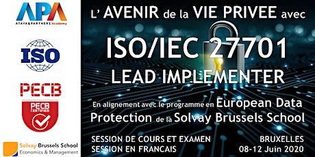 ISO/IEC 27701 Lead Implementer - Session de cours et Examen certificatif billets