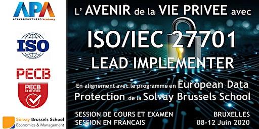 ISO/IEC 27701 Lead Implementer - Session de cours et Examen certificatif