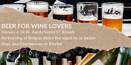 Beer for Wine Lovers - a Belgian beer tasting tickets