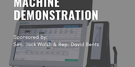 New Voting Machine Demonstration tickets