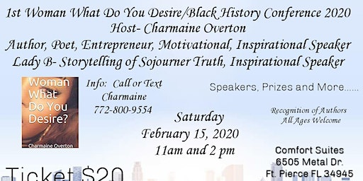 1st (Woman What Do You Desire? Black History Conference 2020
