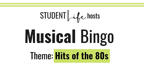 Rock and Roll Bingo: Hits of the 80s tickets