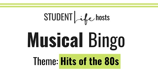 Rock and Roll Bingo: Hits of the 80s