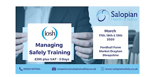 IOSH Managing Safely Training - 3 Day Course