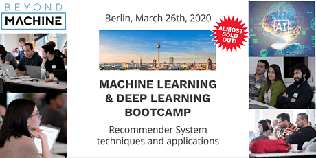 Machine Learning & Deep Learning Bootcamp: Building Recommender System with Datalyst Academy tickets